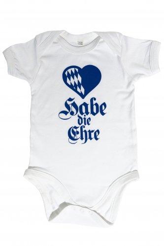 Babybody Habe die Ehre 6-12 mo | white