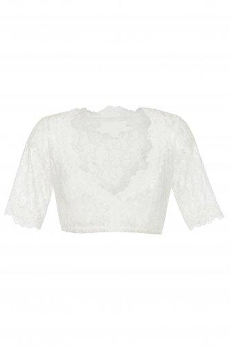 Spitzendirndlbluse 40 | 1 weiß