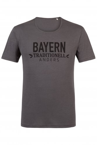 T-Shirt Bayern traditionell anders L | anthra / schwarz