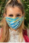 Gesichtsmaske Herz beige-blau 4